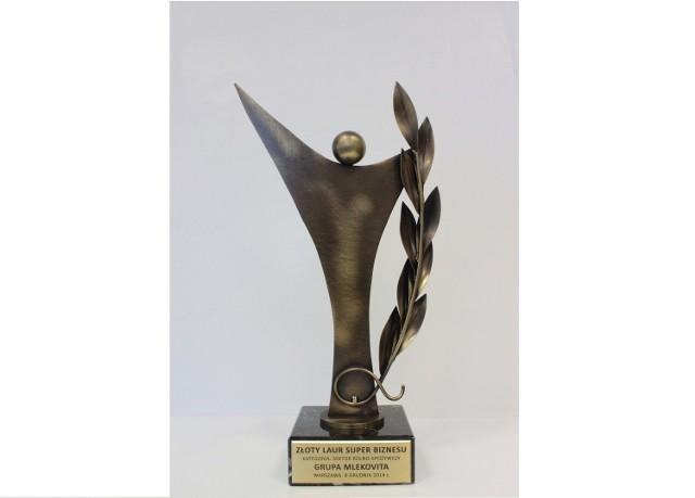 Grupa Mlekovita uhonorowana Złotym Laurem Super Biznesu