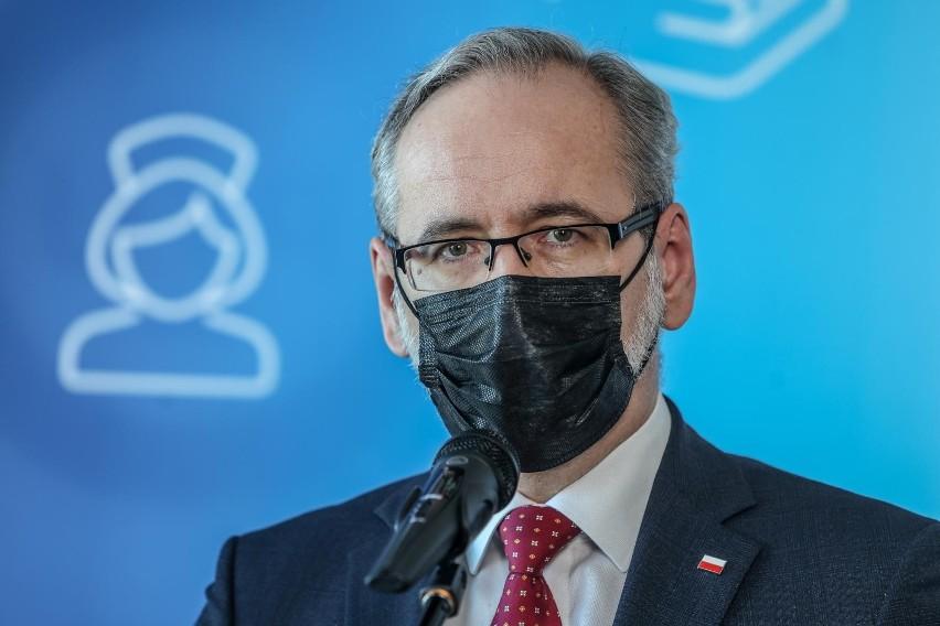Na zdjęciu minister zdrowia Adam Niedzielski