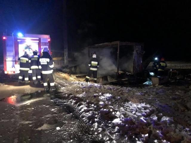 Spalił się barak w Urbanowie, w którym mieszkał mężczyzna.