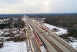 Budowa trasy S7 z Grójca do Warszawy. Zobacz zimowe zdjęcia z placu budowy. Jaki jest postęp prac? (GALERIA)