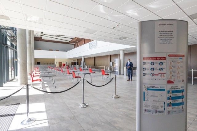 Punkt Szczepień Powszechnych w Bydgoszczy powstaje w Bydgoskim Centrum Targowo - Wystawienniczym w Myślęcinku