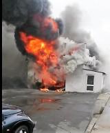 Darłowo: Pożar warsztatu samochodowego na ulicy Leśnej [17.05.2019 r.] - zdjęcia