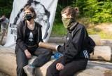 Nie doszło do zapowiadanego na dzisiaj, przerwania blokady lasu koło Arłamowa, na terenie Nadleśnictwa Bircza [ZDJĘCIA]