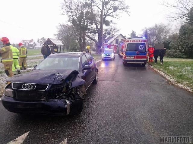 Wypadek w Dąbrowie.
