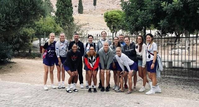 Bydgoskie koszykarki przed meczem w Atenach