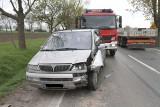 Groźny wypadek w Kobierzycach. Trzy osoby ranne