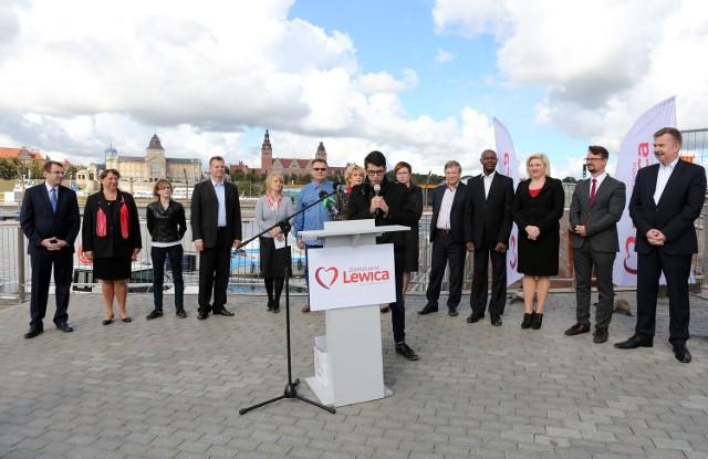 Kandydaci Zjednoczonej Lewicy w Szczecinie.