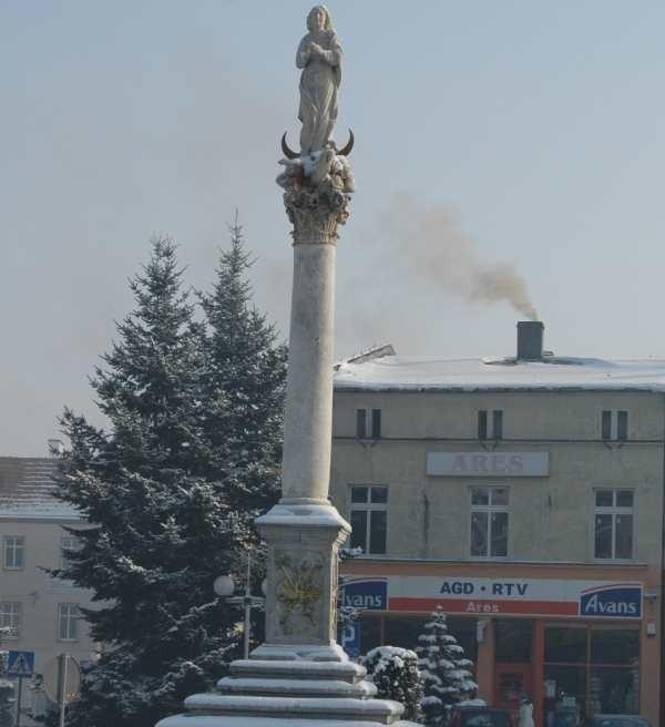 Kolumna Maryjna na Rynku w Oleśnie