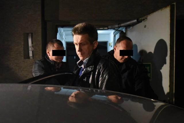 Jan Bury w prokuraturze w Katowicach.