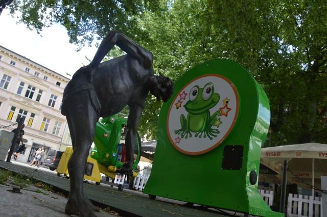 Nowa strefa dla dzieci ustawiona przed ratuszem w Zielonej Górze