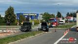 Brzesko. Wypadek z udziałem porsche i volkswagena na obwodnicy Brzeska, jedna osoba trafiła do szpitala