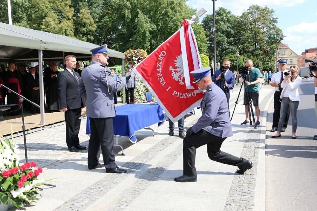 Komenda Powiatowa Policji otrzymała sztandar.