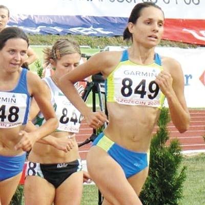 Justyna Korytkowska na trasie srebrnego biegu