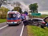 Boćki. Wypadek na DK 19. Zderzenie samochodu osobowego i ciężarówki. Jedna osoba ranna [ZDJĘCIA]