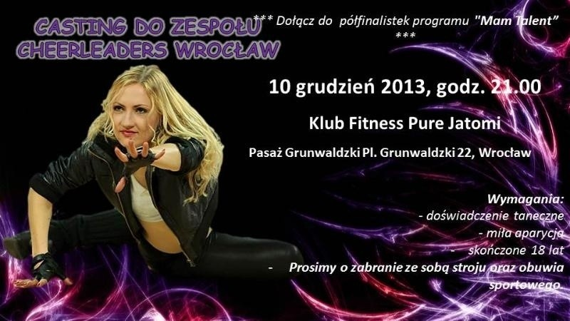 Chcesz dołączyć do kultowej grupy Cheerleaders Wrocław? Przeczytaj! Ale panom wstęp wzbroniony