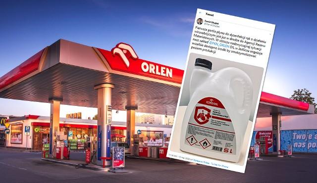 PKN Orlen już dystrybuuje płyn do dezynfekcji rąk, niszczący wirusy.