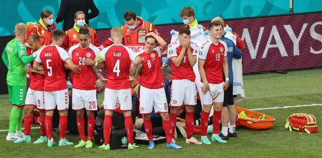 Mecz Dania - Finlandia przerwany! Christian Eriksen był reanimowany na boisku