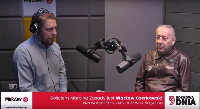 Marcin Zasada i Wacław Czerkawski, przewodniczący rady OPZZ woj. śląskiego