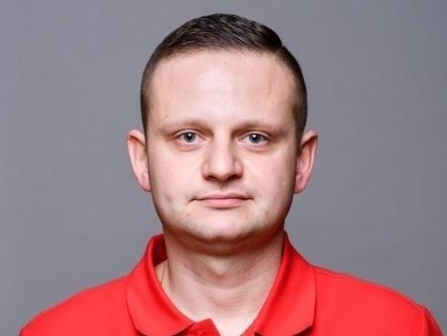 Łukasz Chmura był trenerem Błękitnych niespełna rok