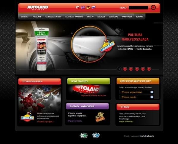 Strona główna firmy Autoland.