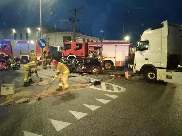 Wypadek na węźle Pietrzykowice