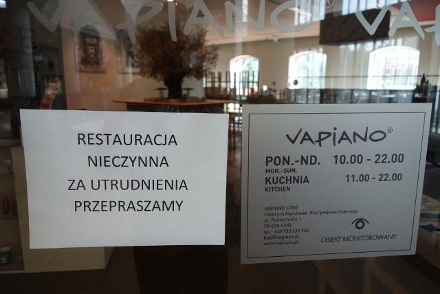 Restuaracja Vapiano w Sukcesji została zamknięta
