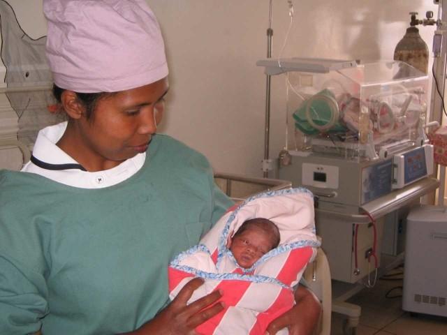 Klinika Ave Maria w Antsirabe na Madagaskarze to biedna placówka.