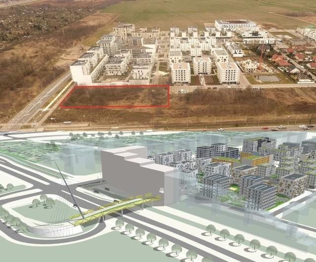 Miasto sprzedaje działkę u zbiegu ul. Kosmonautów i al. Architektów. Ma tam powstać budynek mieszkalno-usługowy, a w przyszłości też kładka nad ul. Kosmonautów.