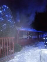 Pożar w Kuninie, 15.01.2021. Ogień wybuchł w budynku mieszkalnym, straty oszacowano na 40 tys. zł