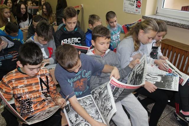Uczniowie z Publiczego Gimnazjum w Drzonkowie