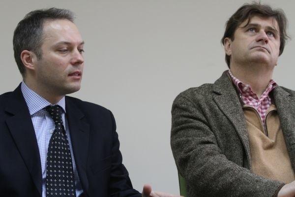 Janusz Palikot (z prawej) i Jacek Żalek (z lewej) to członkowie Platformy Obywatelskiej