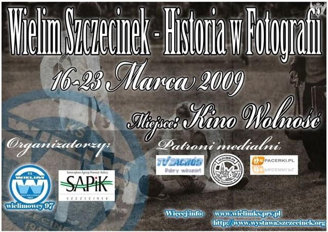 Plakat promujący wystawę poświęconą dziejom klubu Wielim.