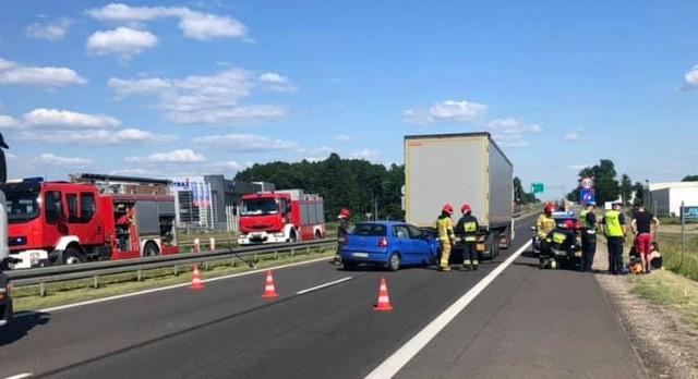 Wypadek na S8 na wysokości miejscowości Łyski