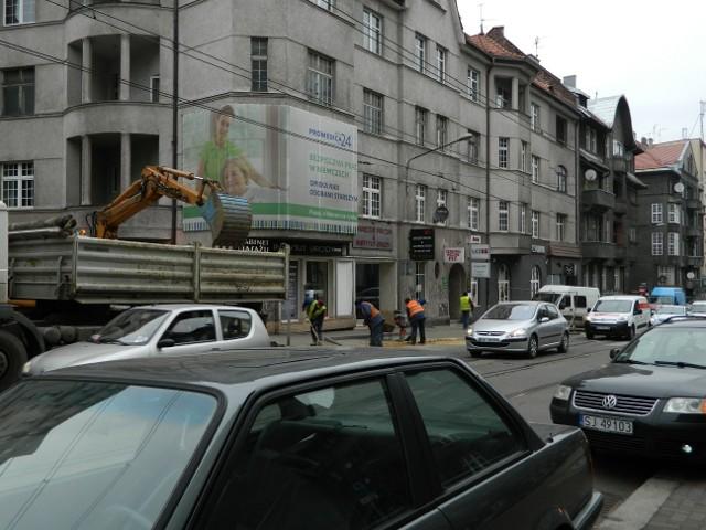 Remont ulicy Kościuszki w Katowicach