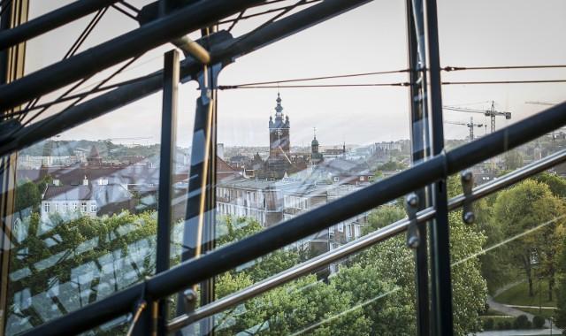 Panorama Gdańska z Muzeum II WŚ.