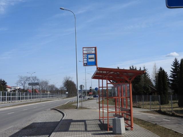Przystanek autobusów linii 22 na ul. Ciołkowskiego. Zgodnie z propozycją Czytelnika w tym miejscu zatrzymywałyby się jedynie autobusy linii 22.