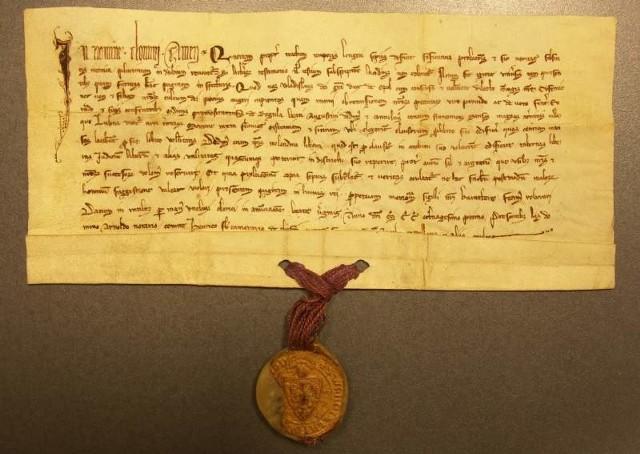 Dokument księcia opolskiego Władysława I z 1281 roku.