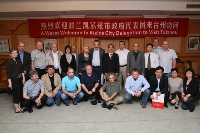 Kielecka delegacja w Urzędzie Miasta w Taizhou.