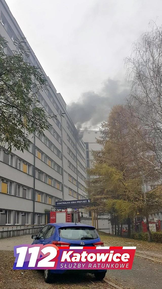 Pożar szpitala w Katowicach
