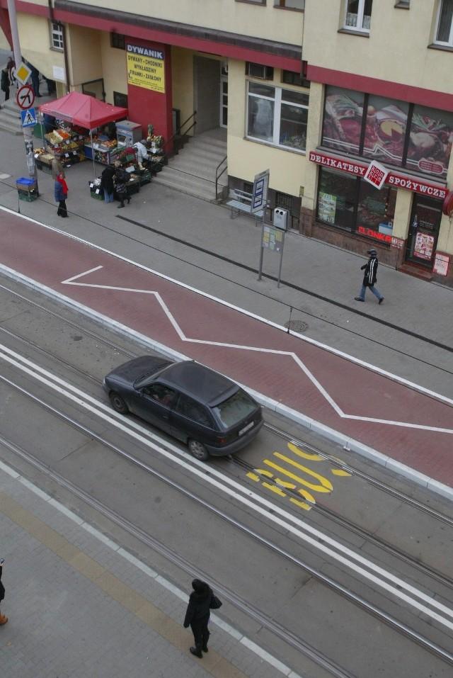 Tak wygląda przystanek wiedeński na ul. Glinianej