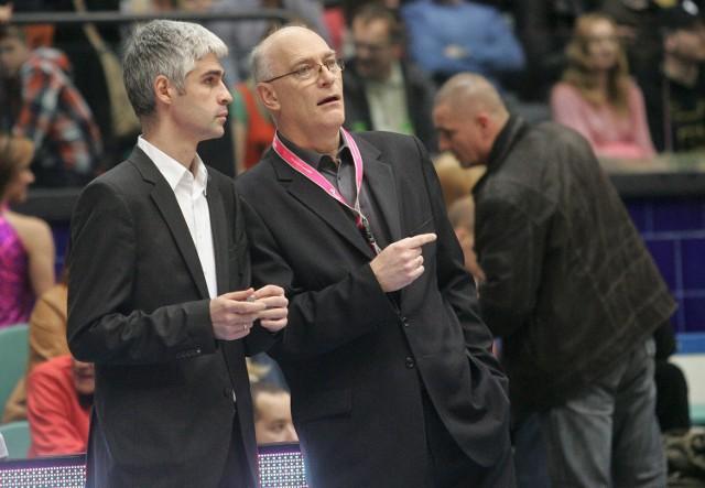 """Jerzy Chudeusz (z prawej) był asystentem Milivoje Lazicia (z lewej). Teraz to """"Chudy"""" będzie odpowiadał za wyniki Śląska"""