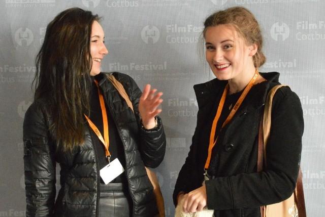 Natalia Czarkowska i Adrianna Stoga podczas 25. FilmFestival Cottbus 2015