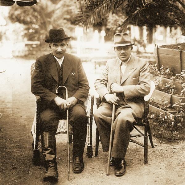 Wincenty Witos (z lewej) kurował się w Truskawcu w lipcu 1939 roku.