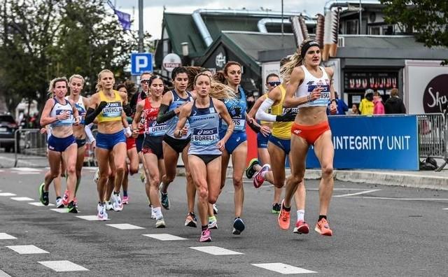 Katarzyna Jankowska podczas mistrzostw świata w półmaratonie w Gdyni.