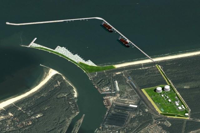 Tak będzie wyglądał gotowy terminal LNG. Przy jego budowie ma być zatrudnionych do 1500 osób. Gazoport ma ruszyć w połowie 2014 roku. Będzie zatrudniał około 350 osób.