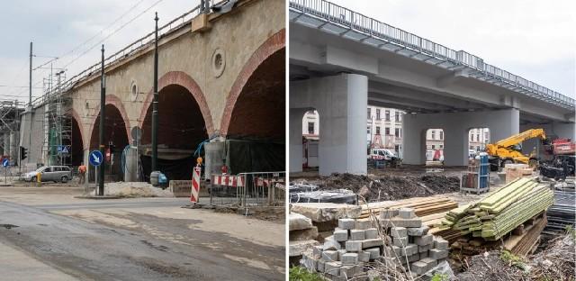 Trwa rozbudowa wiaduktu kolejowego nad ul. Grzegórzecką w Krakowie i budowa estakad kolejowych między ulicami Kopernika i Miodową.