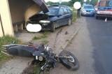 Śmiertelny wypadek z udziałem motocyklisty pod Chorzelami (pow. przasnyski). 23.07.2020. Zdjęcia