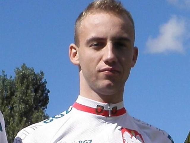 Grudziądzki kolarz Paweł Brylowski, srebrny medalista MP: - Pod koniec trasy jechaliśmy pod wiatr. Było ciężko.