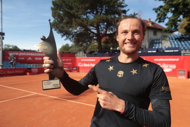 Jozef Kovalik ze Słowacji wygrał Pekao Szczecin Open w 2019 r.