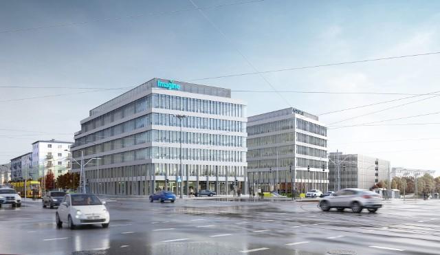 Kompleks biurowy Imagine wkrótce zostanie otwarty. Został zbudowany u zbiegu Piłsudskiego i Śmigłego-Rydza.